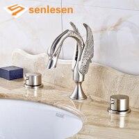Venda quente Do Banheiro Torneira de Água Melhor Preço Misturador de Lavatório Torneiras de Níquel Escovado