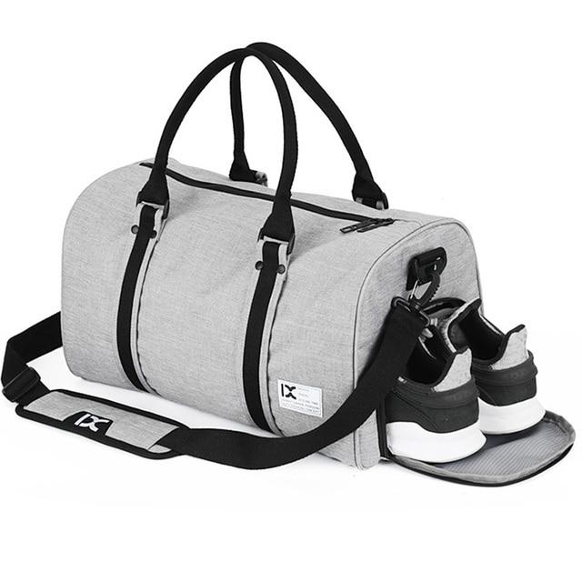 b32f4466a9 Women Men Outdoor Sports Gym Bag with Shoes Storage Training Fitness Shoulder  Bags Travel HandBag Terylene Football Bag