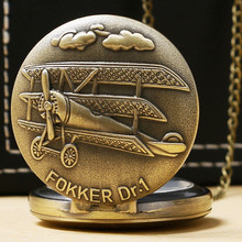 Buy Classic limited edition pocket watch Fokker aircraft necklace fashion students trend list directly from merchant!