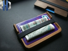 EDC Wooden Simple Pocket Wallet Card Pack Coin