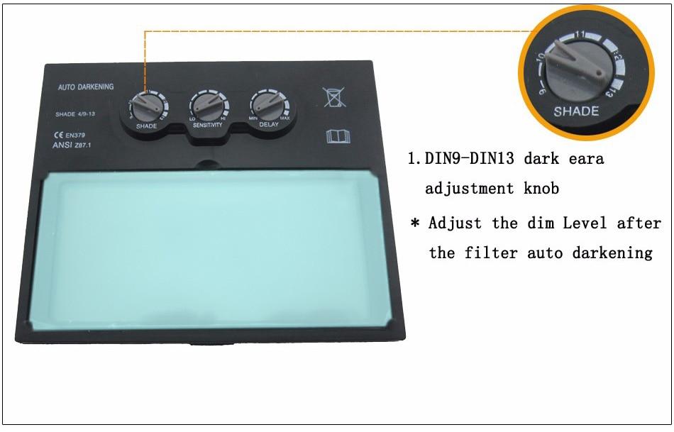 LI батарея Солнечная Авто Затемнение/затенение сварочный фильтр объектив для сварочной маски и сварочного шлема
