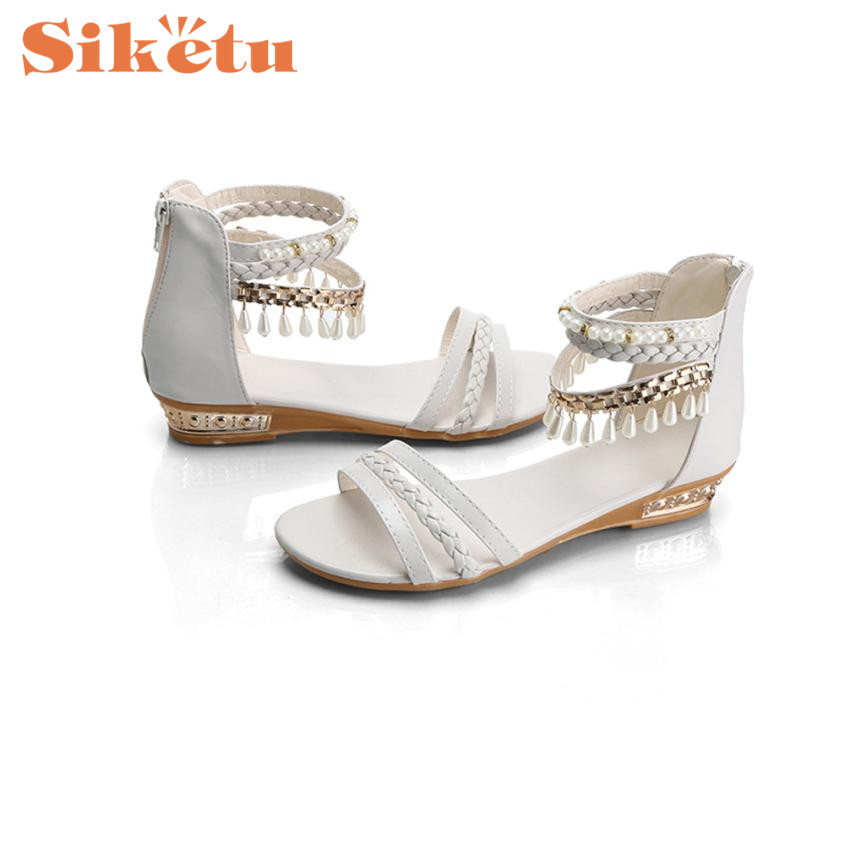 Women Sandals Top Quality New Arrivals Summer Elegant Platform Shoes Pearl Wedges Sandals Casual Shoes Sandalias Gift 17May10 phyanic 2017 gladiator sandals gold silver shoes woman summer platform wedges glitters creepers casual women shoes phy3323