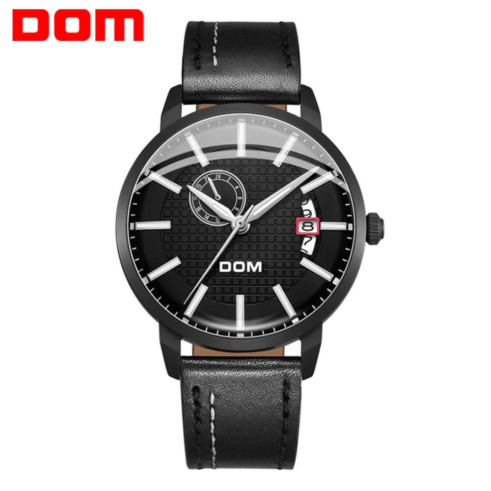 DOM Top Brand Luxury Mechanical Watch Men Automatic Classic Black Leather Waterproof Male Wristwatches Relogio Masculino M-8111DOM Top Brand Luxury Mechanical Watch Men Automatic Classic Black Leather Waterproof Male Wristwatches Relogio Masculino M-8111