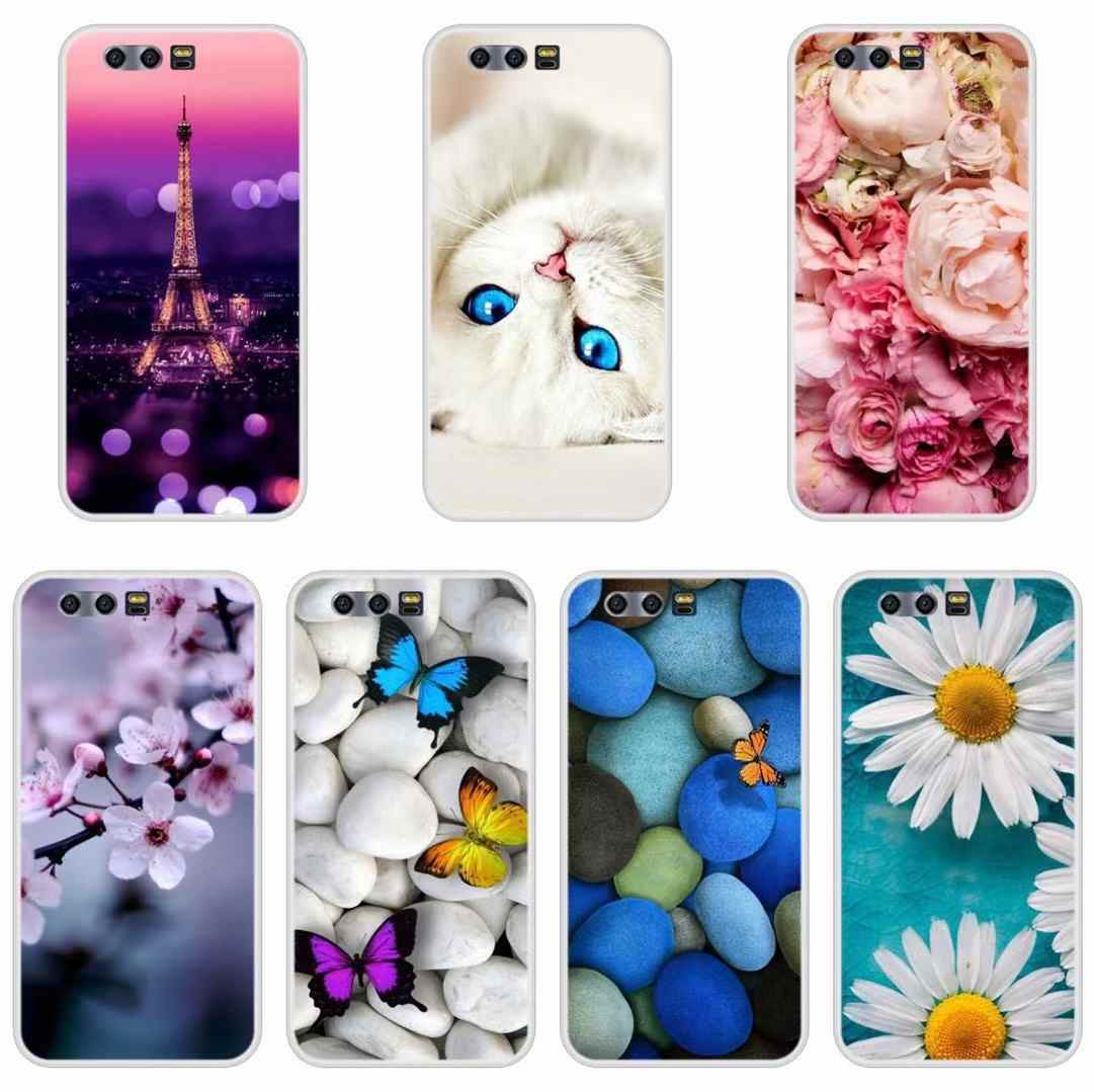 Phone Case For Huawei Honor 10 9 8 7 Lite Soft Silicone Cute Cat Painted Back Cover For Huawei Honor 7A 7C 7S 7X 8 Pro Case