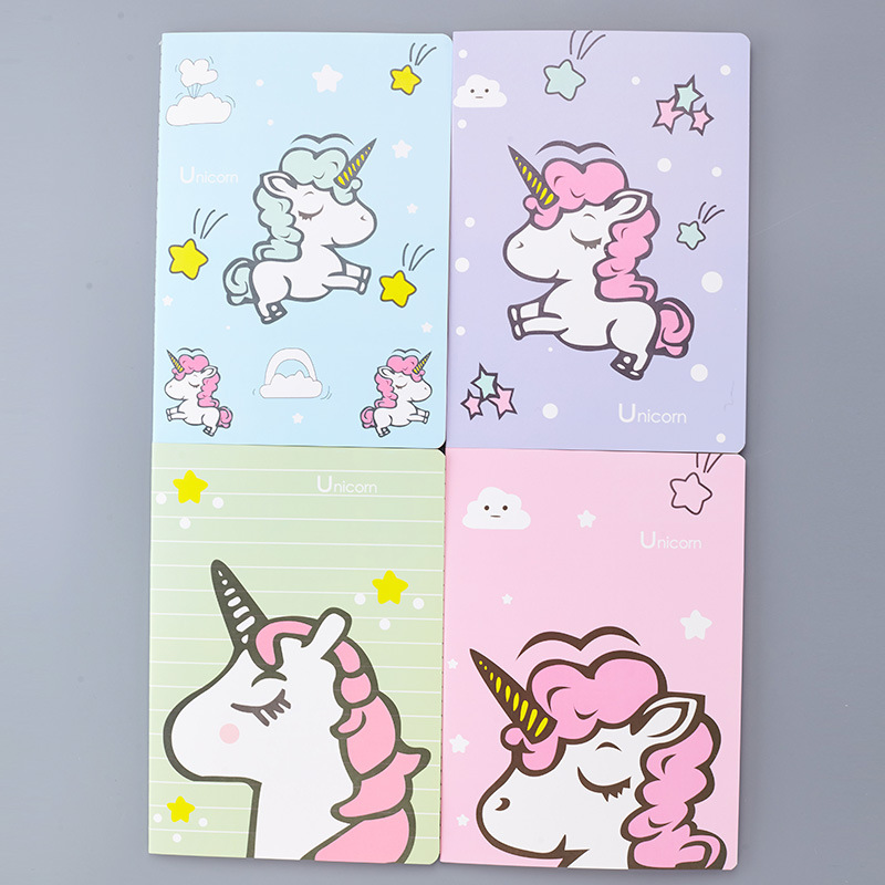 Cute Kawaii Cartoon Animal Unicorn Notebook Diary Book Portable Notepad Stationery Office School Supplies for Kids Gift dolphin kid notebook cartoon password diary lockable korea stationery notebook kawaii notepad school supplies lovely xmas gift