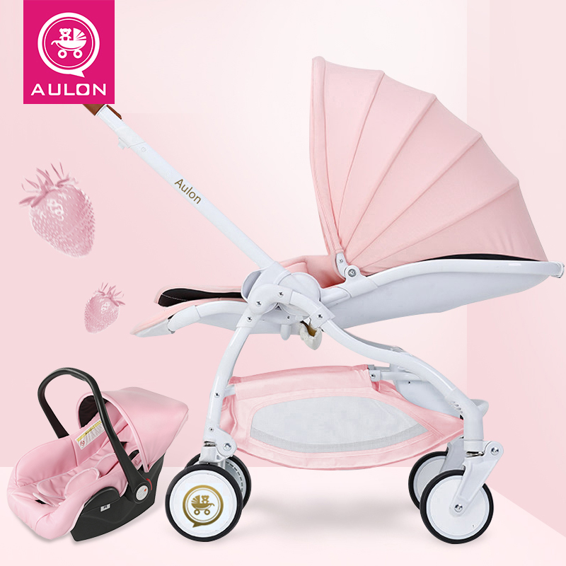 Free Ship 20 colors Light folding baby strollers EU trunk carriage travel bb car with car seat newborn gifts 3 in 1 baby wagon