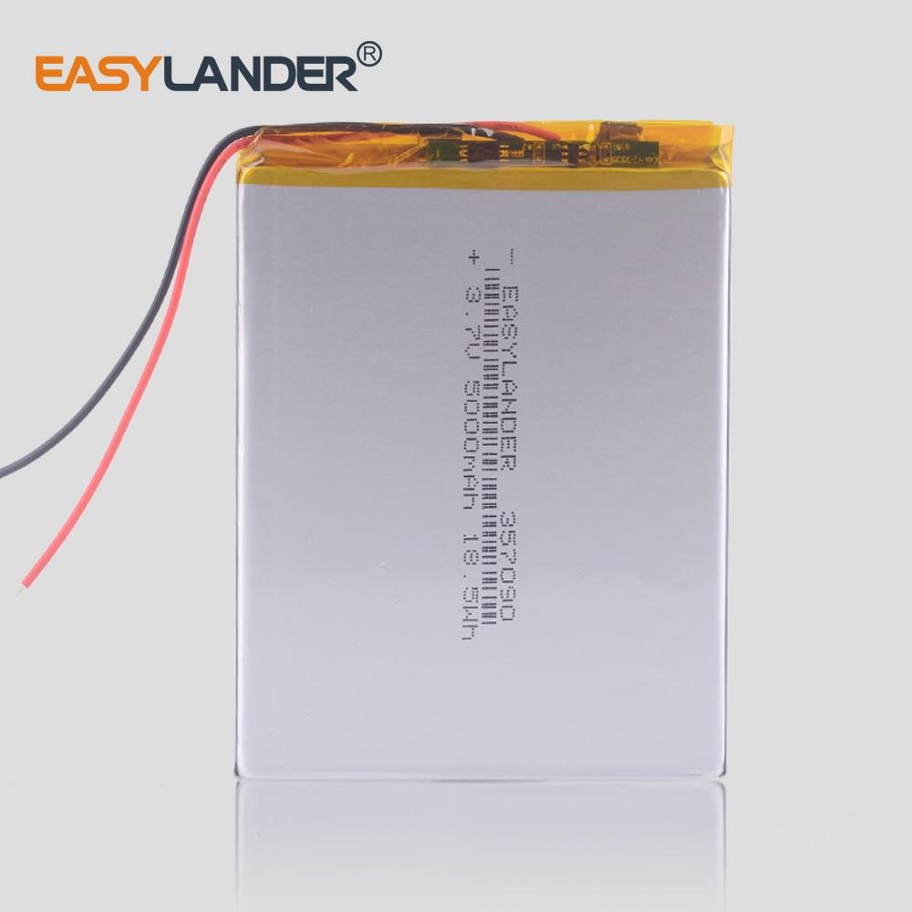 5000 MAh Tablet Pc Battery  Li-Po Rechargeable Batteries  357090 3.7v High Capacity FOR KUBI U25GT Digma Plane 7700T 4G PS1127PL