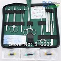 POSTE DEL SG Envío libre entrenamiento Quirúrgico instrumento herramienta kit/paquete de sutura quirúrgica kits set para el médico y el estudiante