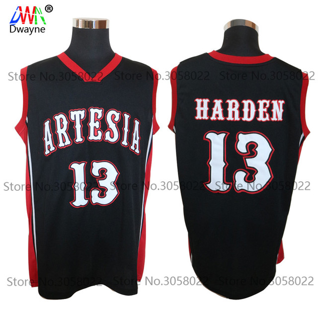 2017 Men Dwayne Cheap Throwback Basketball Jersey James Harden Jersey #13 Artesia High School Jersey Stitch Retro Shirts Sports