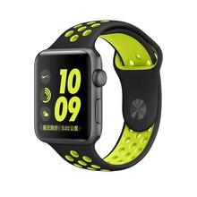 Nouveau Silicone de Sport de Courroie De Bande pour Apple Watch Nike + Série 2 bande 38 m 42mm Espace Gris Vert Volt Argent pour apple watch bande