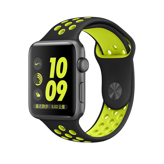 New Silicone Sports Band Strap for Apple Watch Nike+ Series 2 band 38m 42mm Space Grey Green Volt Silver for apple watch band