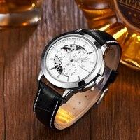 Marca original ouyļanalógico relógio masculino mecânico auto vento pulseira de couro relógio de luxo montre homme relógios de pulso relogio relogio brand relogio relogios relogio men -