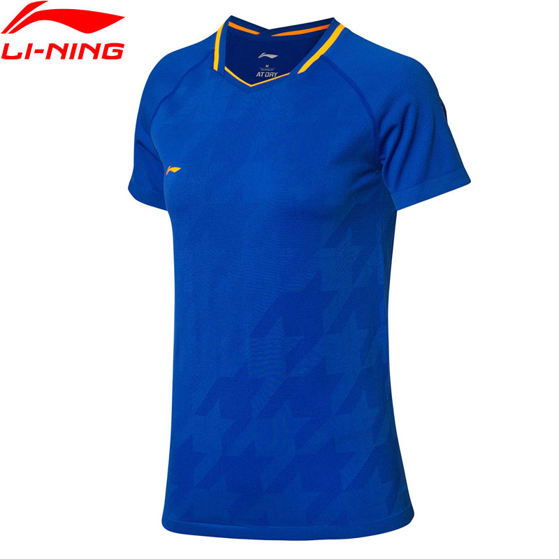 Li-Ning Women Badminton Competition T-Shirts 75.1%Polyester 24.9%Nylon AT DRY LiNing MonoYarn Sports Tops Tees AAYP026 WTS1490Li-Ning Women Badminton Competition T-Shirts 75.1%Polyester 24.9%Nylon AT DRY LiNing MonoYarn Sports Tops Tees AAYP026 WTS1490