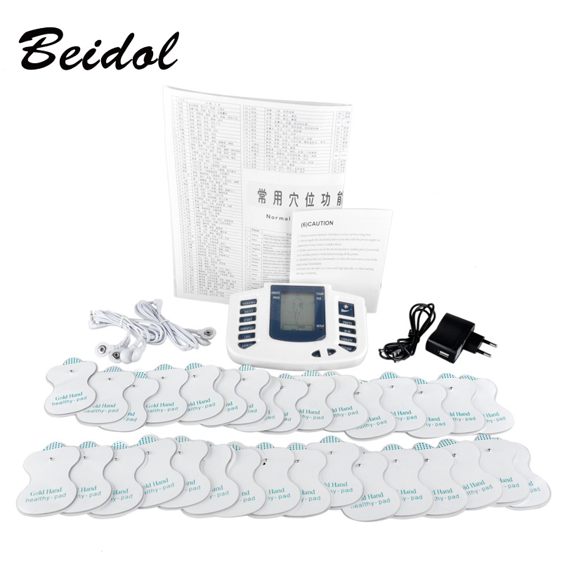 JR309 care health electric muscle stimulator Massageador pads Tens Acupuncture Therapy Machine Massager Slimming Body 16 unids