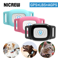 NICREW Smart Pet Dog GPS tracker IP67 Waterproof MiNi Pet GPS AGPS LBS Tracking Collar For Dog Cat SMS Positioning Track Device