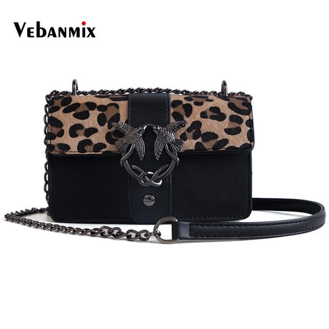 e1dc0bfa4d85 Vebanmix леопардовые сумки для женщин 2018 роскошные женские сумки  дизайнерские женские Лоскутные кожаные сумки через плечо