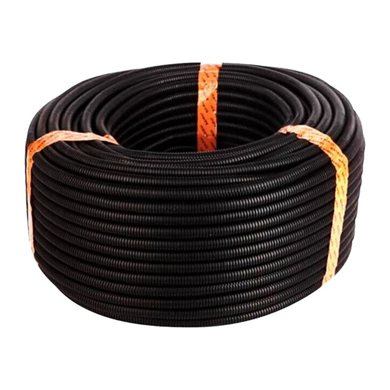 100 Ft 1/4 inch Split Wire Loom Conduit Polyethylene Tubing Black Color Sleeve Tube atv recovery strap 1 inch x 15 ft single ply