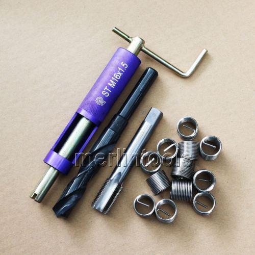Комплект для ремонта резьбы Сверло М16 х 1,5 и инструмент вставки нажмите