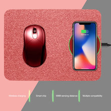 Wireless Charging Mouse pad Universal Mobile Phone Qi Wireless Charger Charging Mouse Pad Mat New for iPhone X 8 XS For samsung(China)