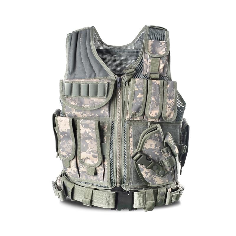 Men s Police Tactical Military CS Wargame Body Armor Nylon Waistcoat Outdoor Hunting Shooting Multi Pocket Mesh Breathable Vest tactical vest men training cs tactical breathable men hiking vest outdoor sport military hunting shooting vest men hmt0034 5