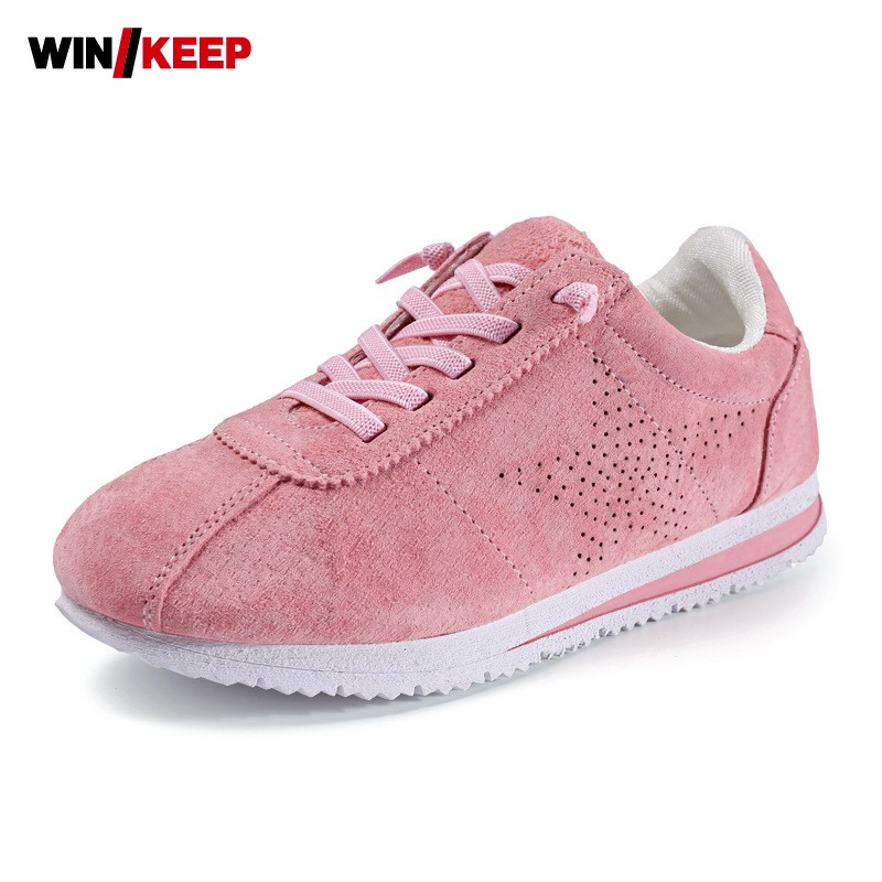 New Autumn Children Sport Shoes Comfortable Ani Slip Sneakers For Kids Running Shoes Lace Up Breathable Pink Gray Free Shipping new hot sale children shoes pu leather comfortable breathable running shoes kids led luminous sneakers girls white black pink