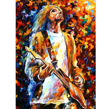 Hand Painted Landscape Abstract Kurt Cobain Palette Knife Modern Oil Painting Canvas Art Living Room hallway Artwork Fine Art