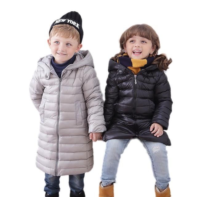 cc28d81b2 ... niños niñas ropa de invierno de la chaqueta de los niños prendas de  vestir exteriores con capucha Nuevo 2018 otoño cálido abrigo adolescentes Parka  en ...