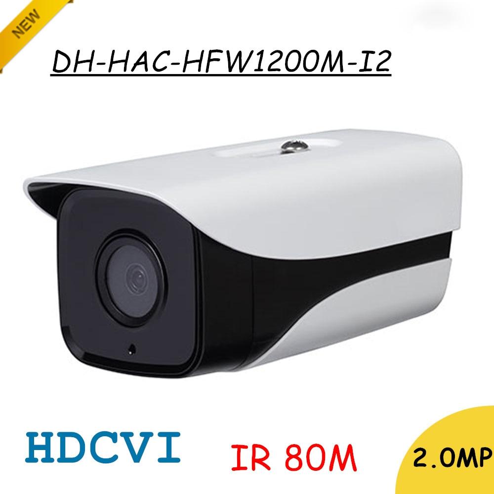 DH 2Mp HDCVI Caméra HD 1080 p HAC-HFW1200M-I2 Réseau IR Bullet Caméra de Sécurité IP67 IR Distance 80 m livraison gratuite