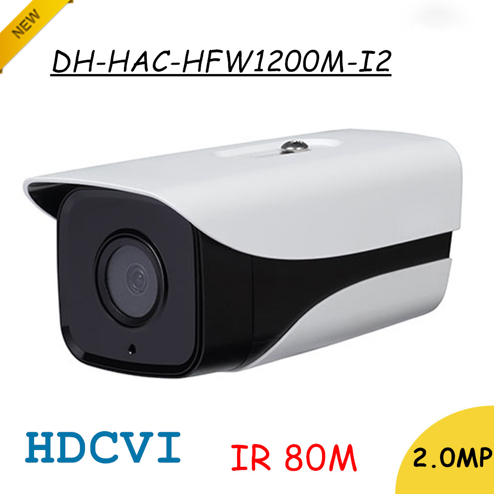 DH 2Mp HDCVI Camera HD 1080P HAC-HFW1200M-I2 Network IR Bullet Security Camera IP67 IR Distance 80m free shipping dahua outdoor indoor hdcvi camera dh hac hdw1100e 1mp hd network ir security cctv dome camera ir distance 40m hac hdw1100e ip67