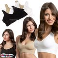 New Hot Cozy Seamless Deportes Leisure Bra Support Vest White Black Nude  Free Shipping