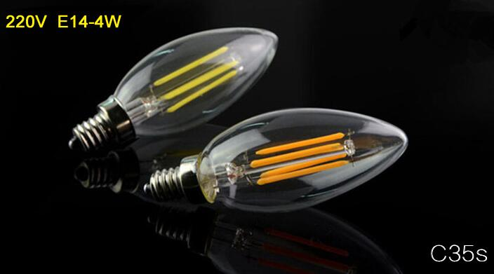 Купить с кэшбэком 2W 4W E14 Led Filament Candle Bulb Light 220v LED Edison Candle Lamp Warm Cool White Vintage Candle Light For Home Decoration