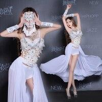 Bodysuit Women Sexy Costumes Nightclub Dj Female Singer Clothing Bar Ds Performance Clothing White Dance Costumes
