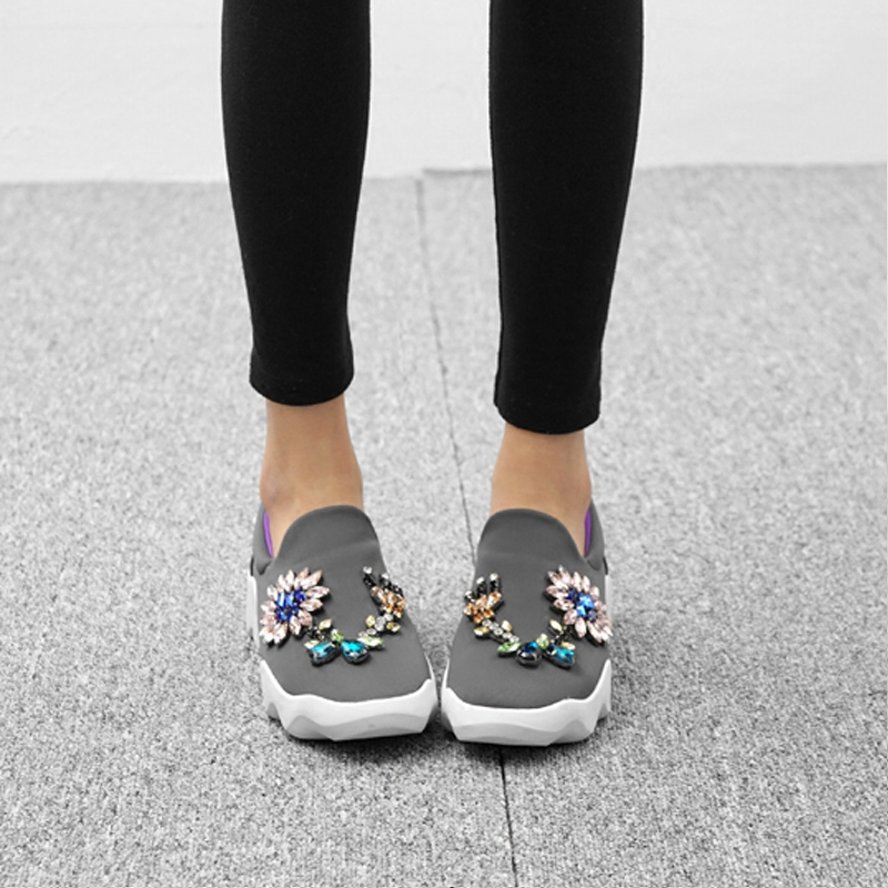 Casual Bling Feminino Show Chaussures Show De Femmes Sapato Zapatos Appartements Chaude Mujer Plate As Coloré as Couleur Sneakers Mixte forme Confortables Cristal C0XwqpY