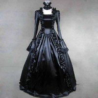 Classic Victorian Dresses Vintage Gothic Lolita Jsk Halloween Party Club Prom Princess Evening Cosplay Plus Size