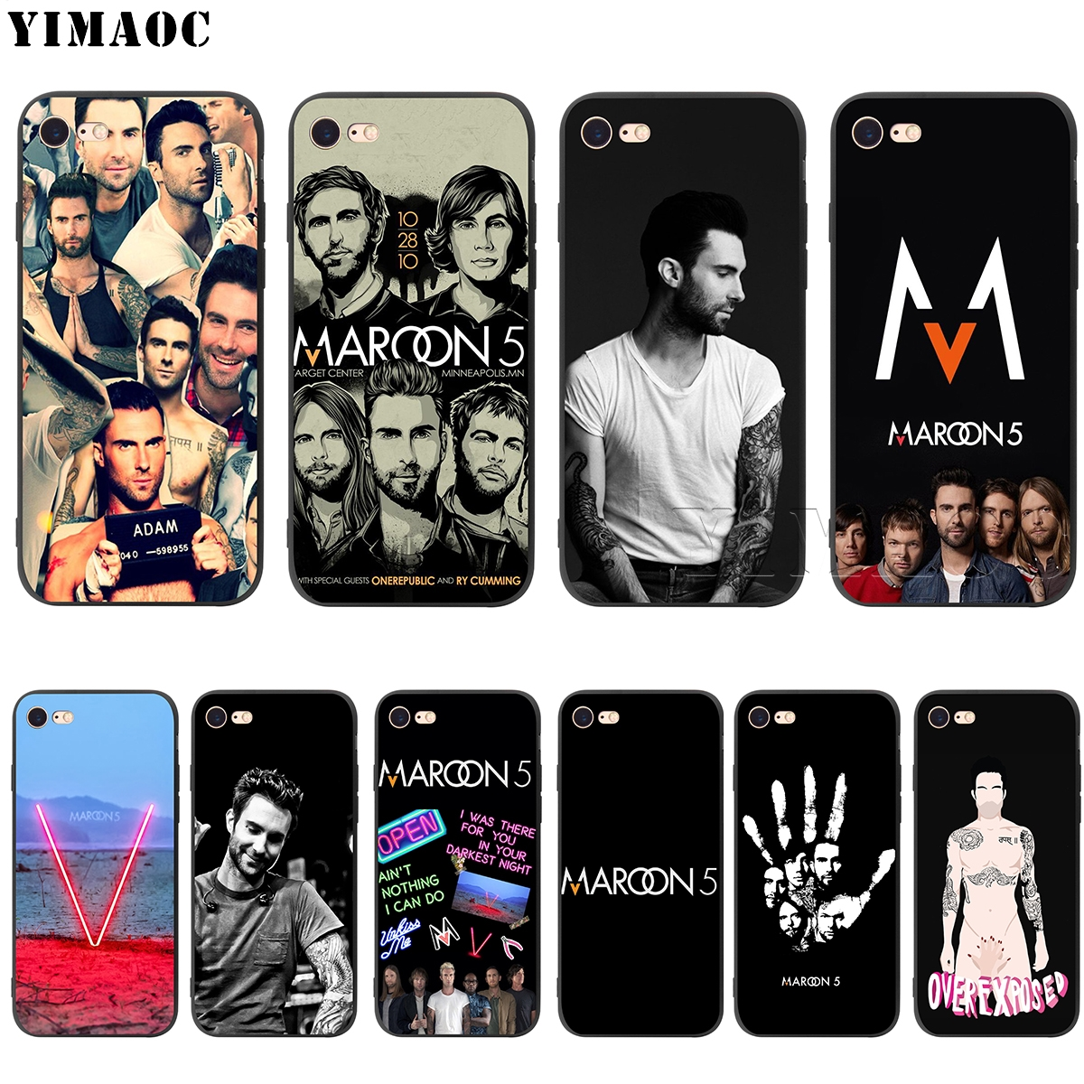 YIMAOC Maroon 5 Adam Levine Silicone Soft Case for iPhone 5 5S SE 6 6S 7 8 Plus X