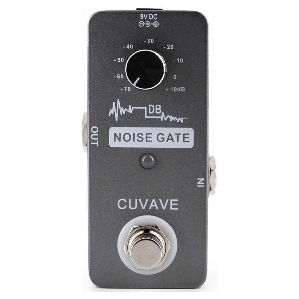CUVAVE Noise Gate Guitar Effect Pedal High Sensitivity True bypass Effects Stompbox for Guitar and Bass Noise Reduction diy compressor pedal bass compressor effects pedal stompbox kit true bypass high quality