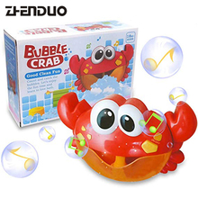 лучшая цена ZhenDuo Toys Bath Toy Crab Bubble Machine Bathroom Bubble Maker  Music  Children Kid Baby