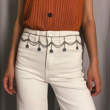 Fashion Sexy Gypsy Gold Color Belly Chain Waist Beach Outfit Multi-layer Full Tassel Coin Belt Chains Women Jeans Body Jewelry