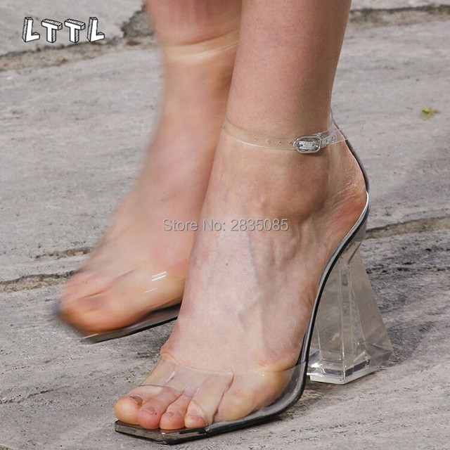 Lttl Fashion Runway Shoes Pvc Glass Perspex Thick Clear