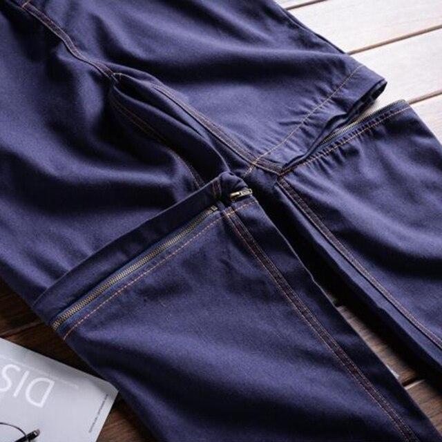 Sokotoo Men's linen detachable sleeve short jumpsuits Joggers Two way overalls Black Purple 4