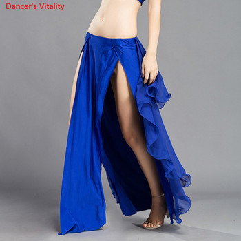 Wholesale Skirt Chiffon Sexy Split Dress For Women India Practice Free Shipping 6 Colors High Spilt Clothes - discount item  12% OFF Stage & Dance Wear