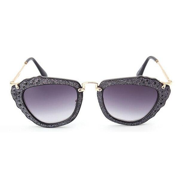 Women's Glitter Vintage Style Designer Sunglasses