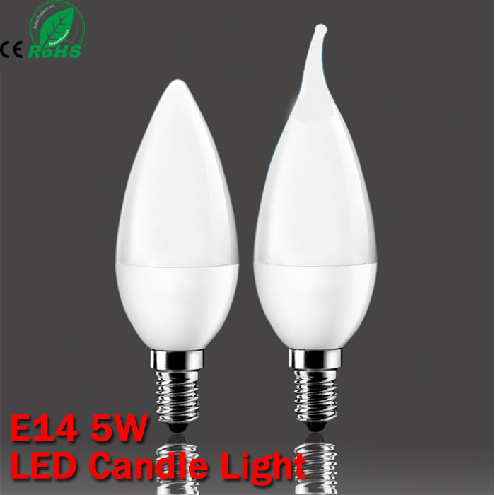 5w SMD 2835 E14 lamp tubes led light Warm White Cold White e 14 led candle 220v led lamp free shipping zhishunjia s030 5w 300lm 3000k 2835 smd 20 led warm white light ceiling lamp silver ac 85 265v