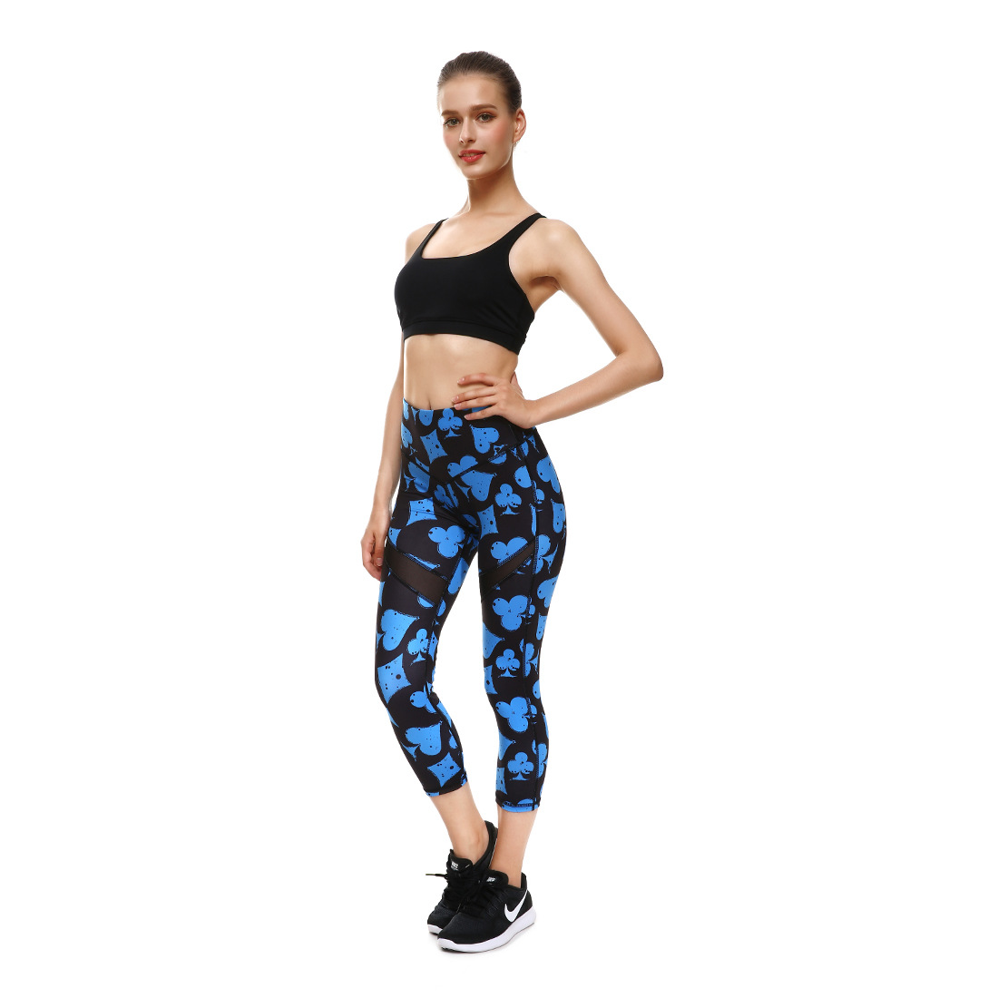 4163c96422606 ... Women's Active Peformance Printed Capri With Mesh Detail ,. OFFER  WHOLESALE & ONLINE FREE DROP SHIPPING