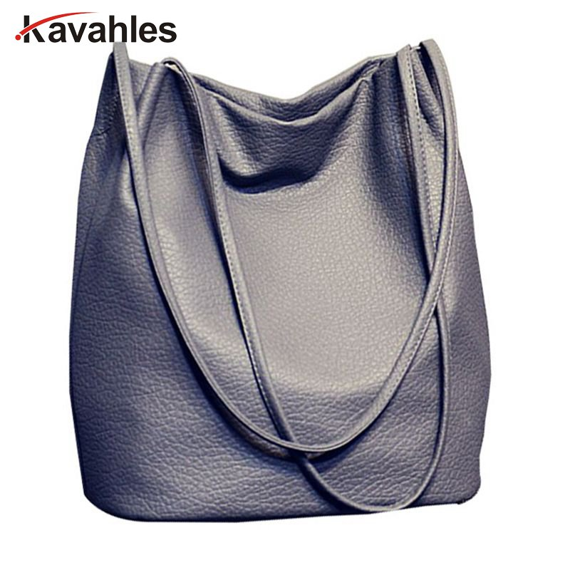 Designer Women Leather Handbags Black Bucket Shoulder Bags Ladies Cross Body Bags Large Capacity Ladies Shopping Bag  A40-328 casual women leather handbags bucket shoulder bags ladies cross body bags large capacity ladies shopping bag bolsa 6 colors