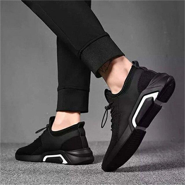 ファッションメンズカジュアルとビジネススニーカーすべりにくいスポーツ靴軽量快適な通気性ウォーキングスニーカー