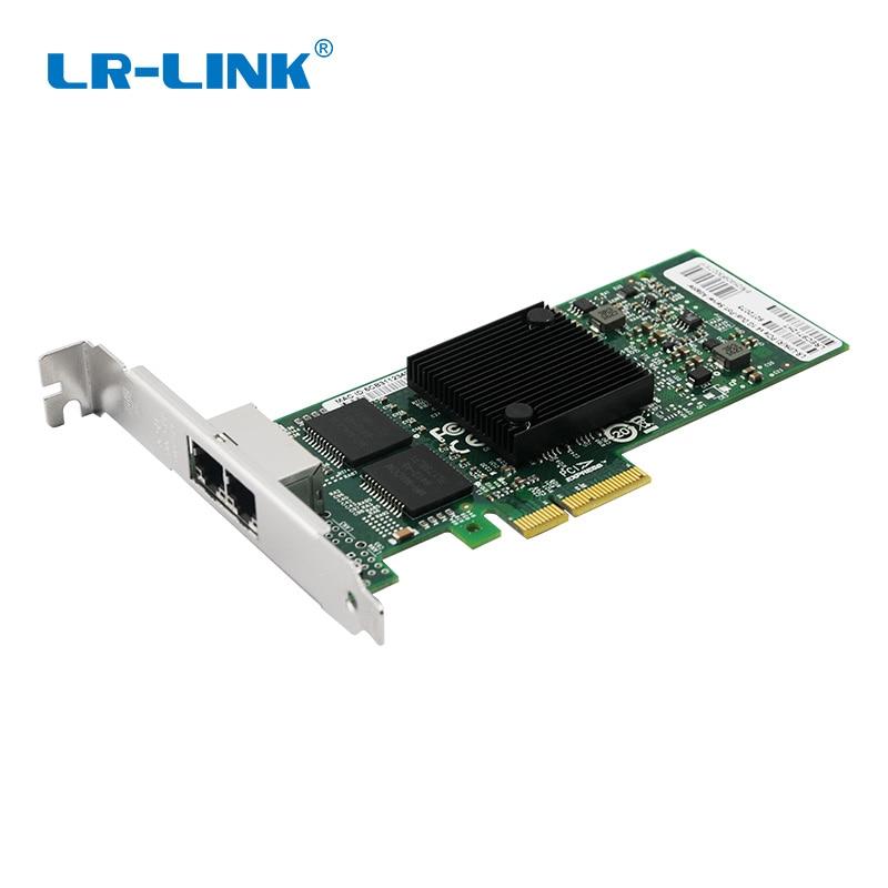 LR-LINK 9722PT PCI-Express Dual Port Network Card Gigabit Ethernet Lan Server Adapter 10/100/1000Mb Intel I350-T2 Compatible