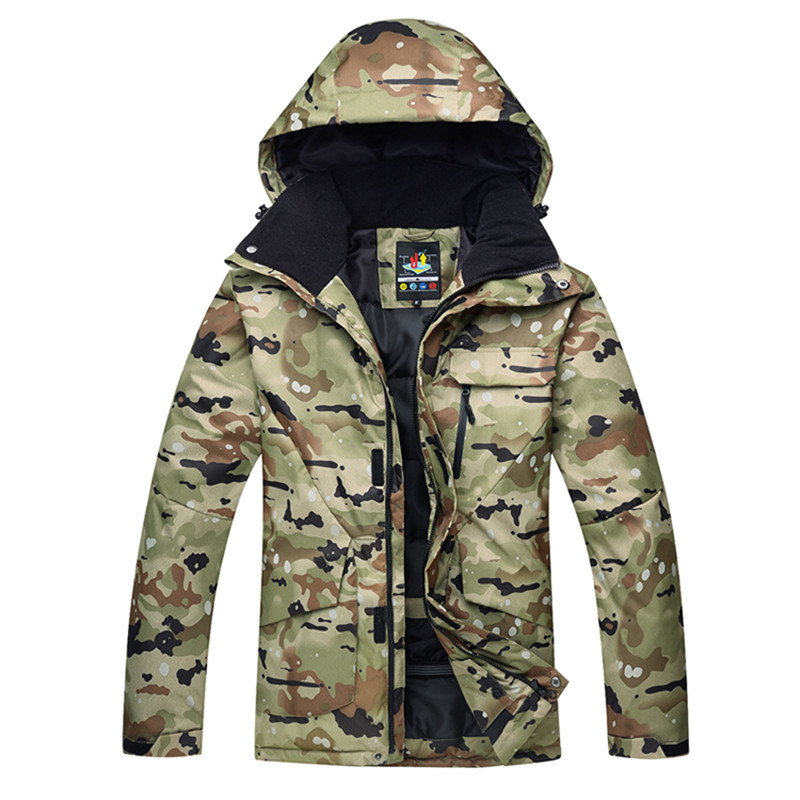 -30 quality camouflage men's 10K ski wear warm wear snowboard jacket windproof waterproof breathable winter jacket waterproof camping camouflage couples two piece ski wear male thickening fleece ski wear winter jacket men outdoor jacket