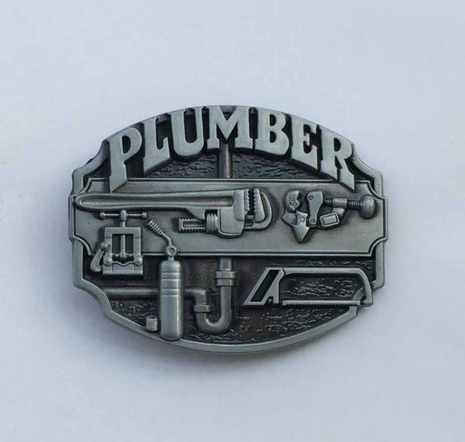 Plumber Tradesman Metal Belt Buckle