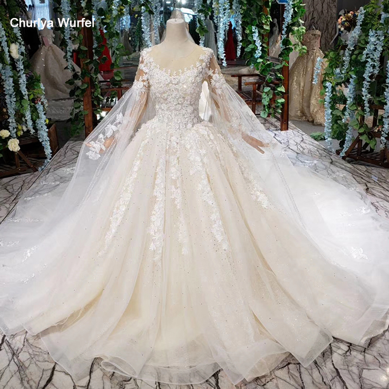 HTL406 summer wedding dress boho o neck see through back bridal dress gown 2019 sleeve shawl fairy vestido de noiva praia boho in Wedding Dresses from Weddings Events
